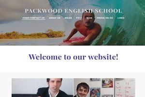 パックウッド英会話スクールのHP