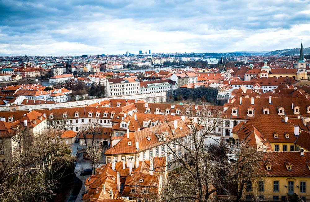 チェコのプラハの街並み