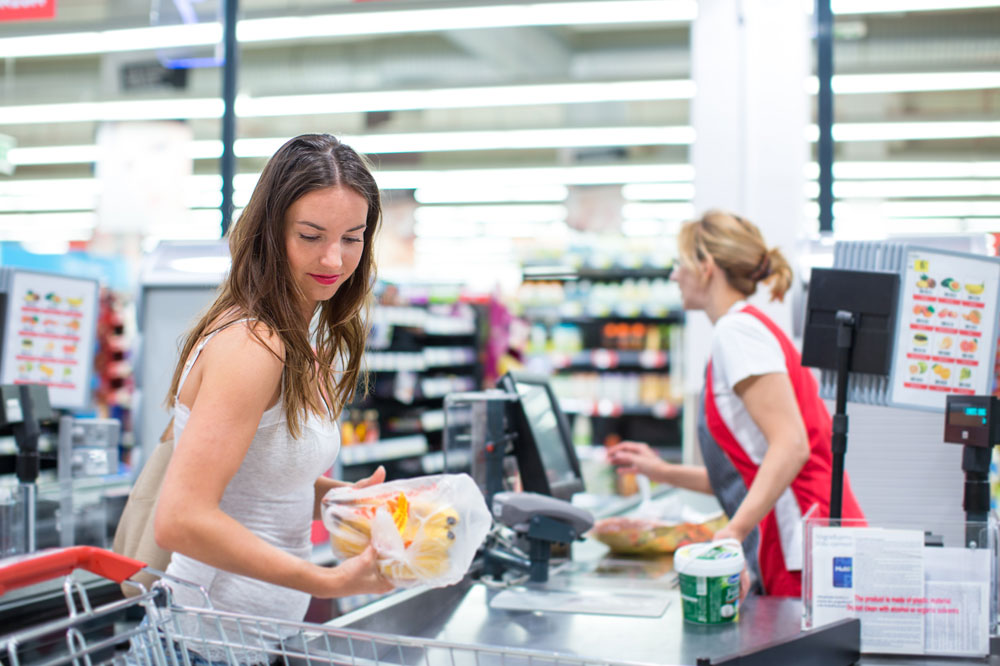 アメリカのスーパーのレジ