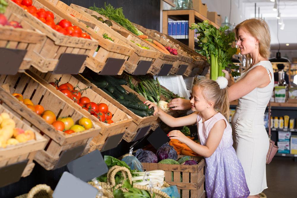生鮮食品コーナー