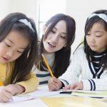小学生に英語を教える様子